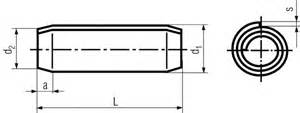 din 7343 coiled spring pins standard