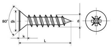 DIN 7505A chipboard screws