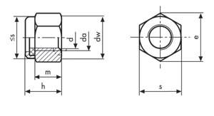 DIN 982 nylon insert lock nuts