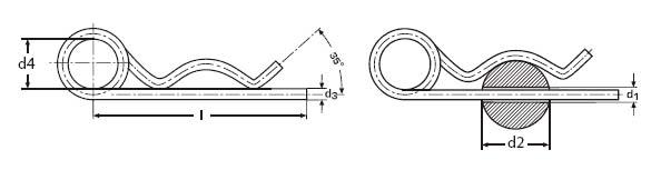 DIN 11024 spring cotter pins