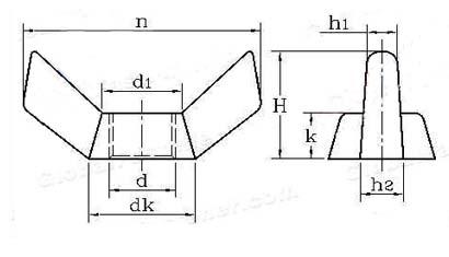 DIN 314 square edge wingnuts