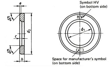 DIN 6916 hardened flat washer