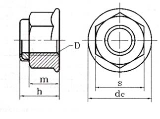 DIN 6926 Hex flange nylon lock nuts