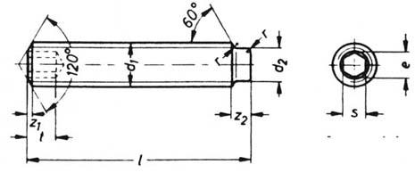 DIN 915 dog point set screws