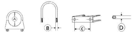 muffler exhaust clamps drawing